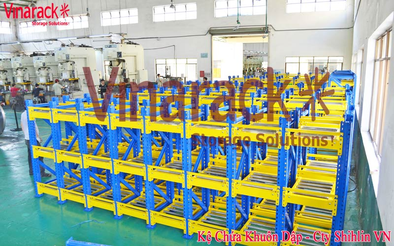 Racking contain mechanical pressing moulds